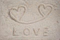 Het woord van de liefde Stock Afbeeldingen