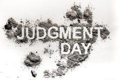 Het woord van de oordeeldag als apocalyps, catastrofe of ramp stock fotografie