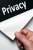 Het woord van de privacy royalty-vrije stock afbeelding