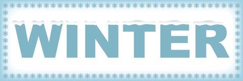 Het woord van de winter Stock Fotografie