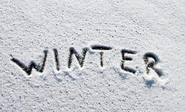 Het woord van de winter Stock Foto's