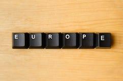 Het woord van Europa Royalty-vrije Stock Foto