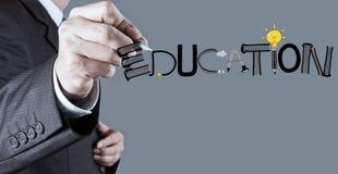 Het woord van het ontwerponderwijs als concept stock afbeelding