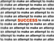Het woord van het succes Stock Afbeeldingen