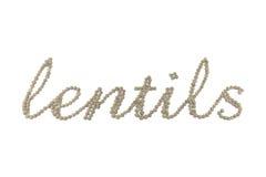 Het woord van linzen Royalty-vrije Stock Afbeeldingen
