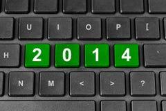 het woord van 2014 op toetsenbord Stock Fotografie