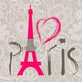 Het woord van Parijs royalty-vrije illustratie