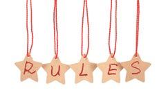 Het woord van regels stock afbeelding