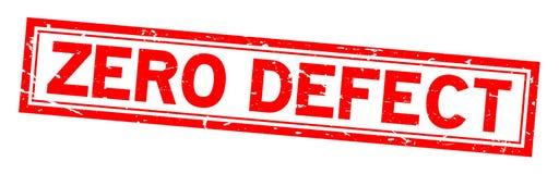 Het woord vierkante rubberzegel van het Grunge rode nul tekort op witte achtergrond stock illustratie
