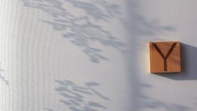 Het woord ` wordt DAG ` opgemaakt in houten brieven stock footage