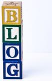 Het woordblog van het Childsblok Stock Foto's