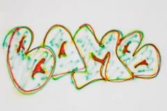 Het woordbom van Graffiti Stock Foto's