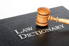 Het Woordenboek van de wet stock foto's
