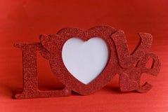 Het woordframe van de liefde Stock Foto