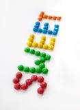 Het woordsnoepje, dat van gekleurd suikergoed wordt gemaakt Stock Afbeelding