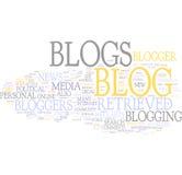 Het woordwolk van Blog Stock Foto's