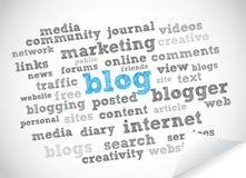 Het woordwolk van Blog Stock Foto