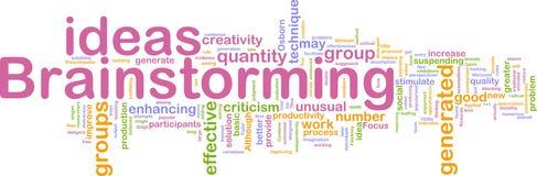 Het woordwolk van de brainstorming Royalty-vrije Stock Afbeeldingen