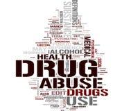 Het woordwolk van de drug royalty-vrije illustratie