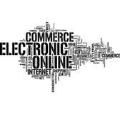 Het woordwolk van de elektronische handel Royalty-vrije Stock Afbeeldingen