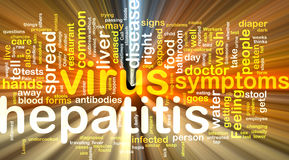 Het woordwolk van de hepatitis het gloeien Royalty-vrije Stock Fotografie