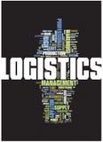 Het woordwolk van de logistiek Stock Foto's