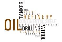 Het woordwolk van de olie royalty-vrije illustratie