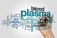 Het woordwolk van de plasmacel stock afbeeldingen