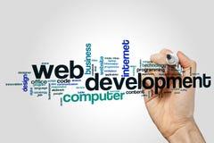 Het woordwolk van de Webontwikkeling stock afbeeldingen
