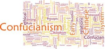 Het woordwolk van het confucianisme Stock Afbeeldingen