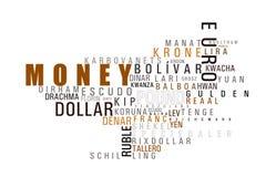Het woordwolk van het geld Stock Foto
