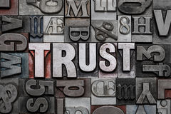 Het woordwolk van het vertrouwensletterzetsel Stock Afbeeldingen