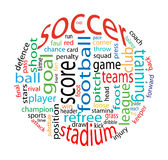 Het woordwolk van het voetbal Stock Afbeelding