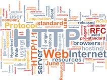 Het woordwolk van HTTP Stock Foto's