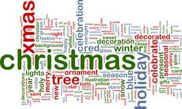 Het woordwolk van Kerstmis Stock Foto's