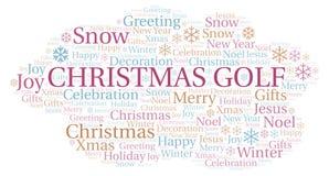 Het woordwolk van het Kerstmisgolf vector illustratie