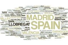Het woordwolk van Spanje vector illustratie
