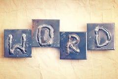 Het woordwoord stock fotografie