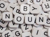 Het woord van het zelfstandige naamwoord Royalty-vrije Stock Afbeelding