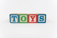 Het Word Speelgoed in de Blokken van Houten Kinderen Royalty-vrije Stock Fotografie