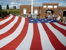 Het worden Klaar om de Vlag te vouwen stock afbeelding