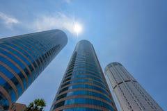 Het World Trade Center en de Bank van de gebouwen van Ceylon zijn het lange gebouw in Colombo Stock Foto