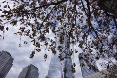 Het World Trade Center Nationaal September 11 van New York Herdenkings & de Museumbouw royalty-vrije stock afbeelding