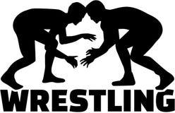 Het worstelen met vechter stock illustratie