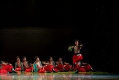 Het worstelen van de lied-Mongool-nationale volksdans Royalty-vrije Stock Afbeeldingen
