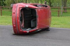 Het Wrak van het autoongeval stock fotografie