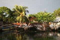 Het wrak van de boot Stock Foto's