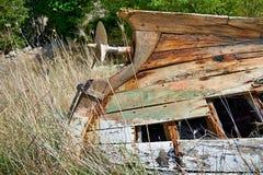 Het wrak van een kleine boot royalty-vrije stock fotografie
