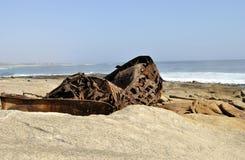 Het Wrak van het Aristeaschip op Westcoast-Zuid-Afrika royalty-vrije stock fotografie