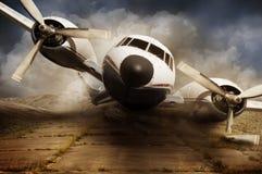 Het wrak van het rampenvliegtuig Stock Afbeeldingen